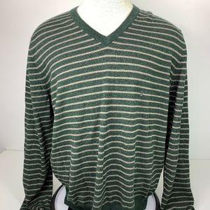 Brooks Brothers Striped Sweater Fine Merino Wool